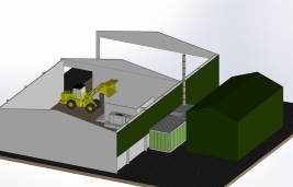 Smart Wood Chips Dryer_3D_1